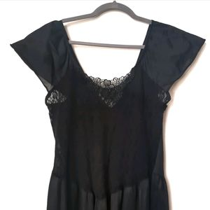Vintage Black Lace Nightgown
